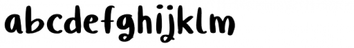 Quiky Regular Font LOWERCASE