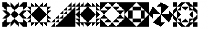 Quilt Patterns Three Font OTHER CHARS