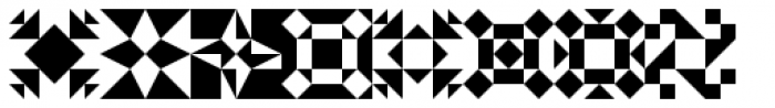 Quilt Patterns Three Font UPPERCASE