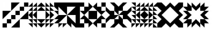 Quilt Patterns Three Font LOWERCASE