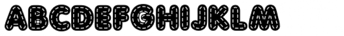 Quilted AOE Bold Font UPPERCASE