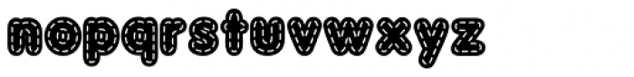 Quilted AOE Bold Font LOWERCASE