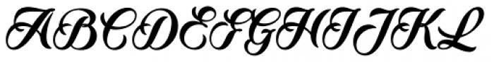 Quincho Script Font UPPERCASE