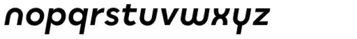 Quinoa Round Bold Italic Font LOWERCASE