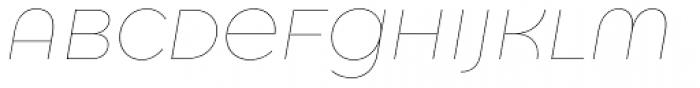 Quinoa Round Thin Italic Font UPPERCASE