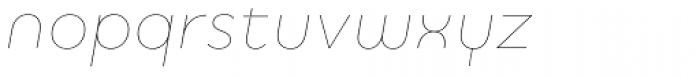 Quinoa Round Thin Italic Font LOWERCASE