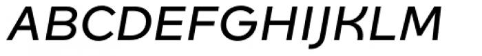 Quinoa Semibold Italic Font UPPERCASE