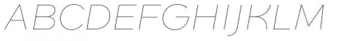 Quinoa Thin Italic Font UPPERCASE