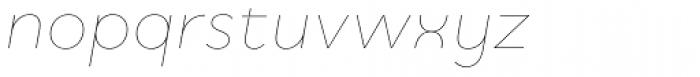 Quinoa Thin Italic Font LOWERCASE