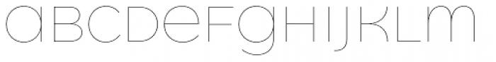 Quinoa Unicase Thin Font UPPERCASE