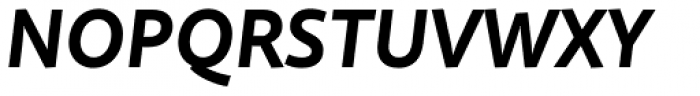 Quire Sans Bold Italic Font UPPERCASE