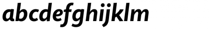 Quire Sans Bold Italic Font LOWERCASE