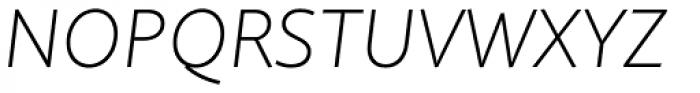 Quire Sans Extra Light Italic Font UPPERCASE