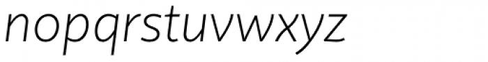 Quire Sans Extra Light Italic Font LOWERCASE