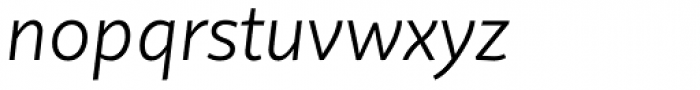 Quire Sans Light Italic Font LOWERCASE