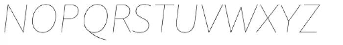 Quire Sans Thin Italic Font UPPERCASE