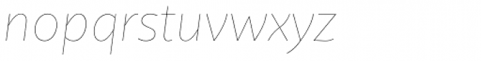 Quire Sans Thin Italic Font LOWERCASE