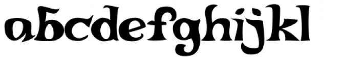Quirkophonic Font LOWERCASE