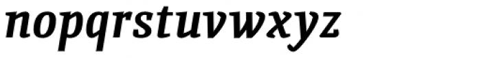 Quiroga Serif Std Bold Italic Font LOWERCASE