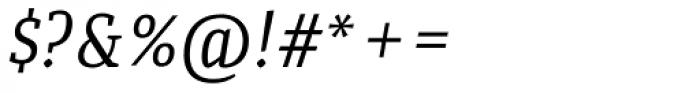 Quiroga Serif Std Italic Font OTHER CHARS