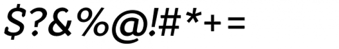 Quiza Pro Semi Bold Italic Font OTHER CHARS