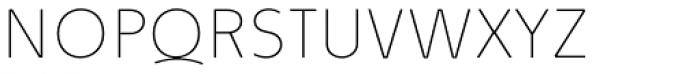 Quodlibet Sans Hairline Font UPPERCASE