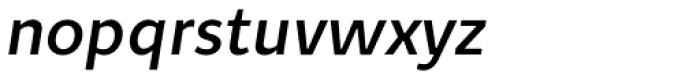 Quodlibet Sans Semi Bold Italic Font LOWERCASE