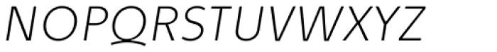 Quodlibet Sans Thin Italic Font UPPERCASE