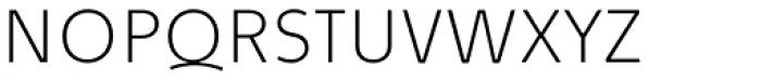 Quodlibet Sans Thin Font UPPERCASE