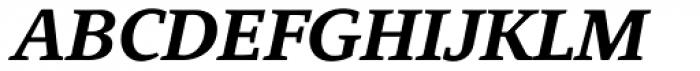 Quodlibet Serif Bold Italic Font UPPERCASE