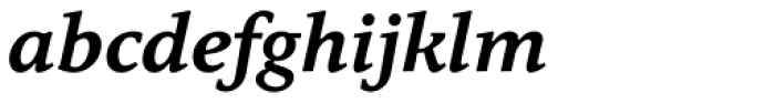 Quodlibet Serif Bold Italic Font LOWERCASE