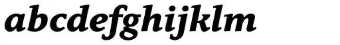 Quodlibet Serif Extra Bold Italic Font LOWERCASE