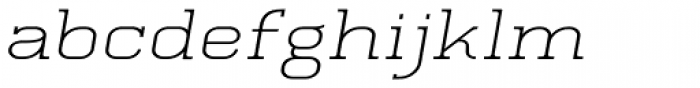 Quoral Expanded Oblique Font LOWERCASE