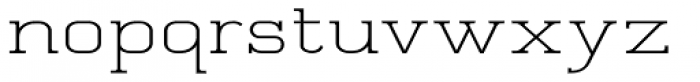 Quoral Expanded Font LOWERCASE