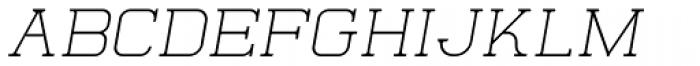 Quoral Oblique Font UPPERCASE