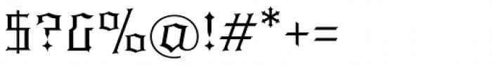 Quorthon Dark I Font OTHER CHARS