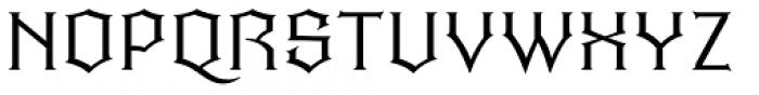 Quorthon Dark I Font UPPERCASE