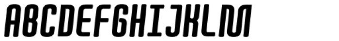 Quota Black Italic Cond. Font UPPERCASE