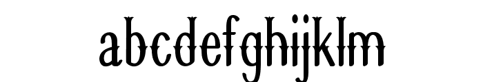 Quickdraw-CondensedRegular Font LOWERCASE