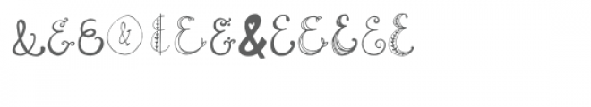 quirky sands ampersand font Font LOWERCASE