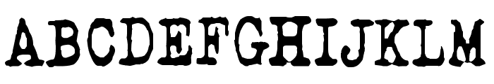 QWERTYpe Font UPPERCASE