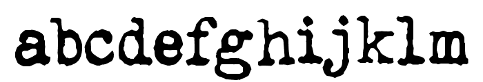 QWERTYpe Font LOWERCASE