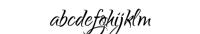Qwigley Font LOWERCASE