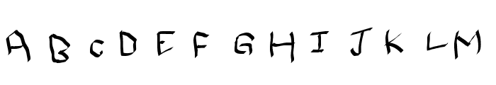 Qwikscribble Normal Font UPPERCASE