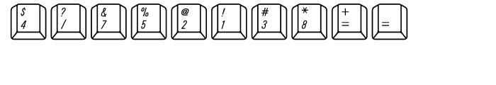 Qwerty Mac Font OTHER CHARS