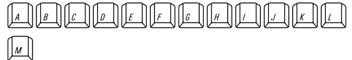 Qwerty Mac Font LOWERCASE