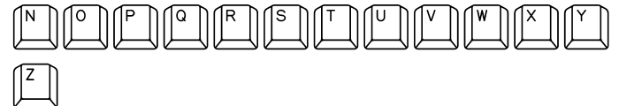 Qwerty PC Font LOWERCASE