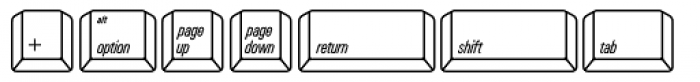 Qwerty Mac Font UPPERCASE