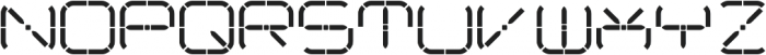 R-2014 ttf (400) Font UPPERCASE