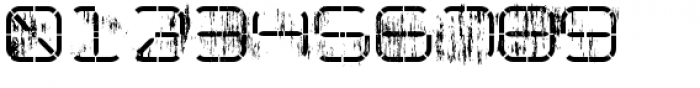 R-2014 Eroded Font OTHER CHARS